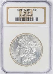 1878 7/8 TF MORGAN Silver Dollar NGC MS 64 - Nice White Coin