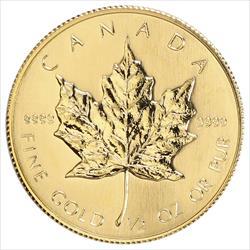 1/2 oz Canadian Maple Leaf .9999 Fine Random Date