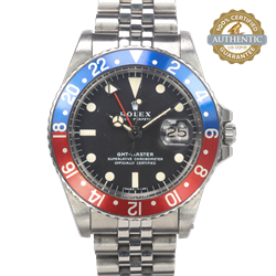 ROLEX 40mm GMT-MASTER 1675 PEPSI On Jubilee with Box