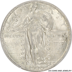 1930 Standing Liberty Quarter PCGS MS64FH Frosty Satin White