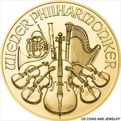 1/10 oz Philharmonic 10 Euro Gold .9999 Fine