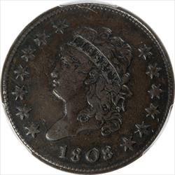1808 Classic Head Large Cent PCGS VF30