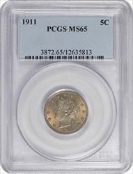 1911 Liberty Nickel PCGS MS65