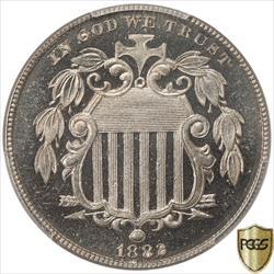 1882 Shield Nickel PCGS PR66CAM Frosty CAMEO