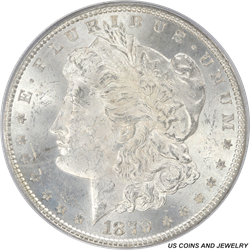 1879 Morgan Silver Dollar PCGS MS63 Old Green Holder Frosty White Coin