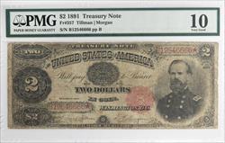 1891 $2 Treasury Note FR#357 PMG VG10 FR#357 Tillman Morgan