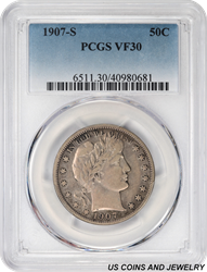 1907-S Barber Half Dollar PCGS