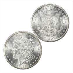 1884-CC Morgan Silver Dollar Choice BU Frosty White