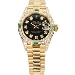 Rolex 26mm Datejust 6917 18K YG President AM DB/Case AM Diamond Dial Watch Only