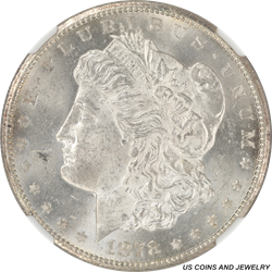 1878-CC VAm-11 Wing Lines Morgan Silver Dollar NGC MS 63