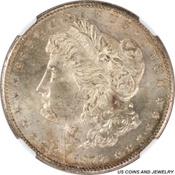 1878-S Morgan Silver Dollar NGC MS64 A charming Toned Coin with an excellent patina
