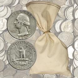 $100 Face Value 90% Silver Quarters - 400 total coins 1964 and before