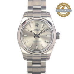 Rolex 26mm Oyster Perpetual 176200 Stainless Steel  Watch and Card