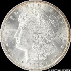 1878 7TF  Morgan Silver Dollar Reverse of 1879 PCGS MS-64  MS-64