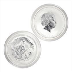 2012 Year of The Dragon 1/2 Ounce .9999 Fine Silver