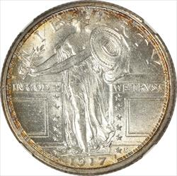 1917 S Type 1 Standing Liberty Quarter NGC MS 63