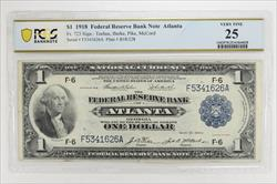 1918 Federal Reserve Bank Note. Atlanta, Fr. 723 PCGS 25 Very Fine
