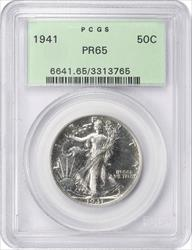 1941 Walking Liberty Half Dollar PCGS PR65 Old Green Holder