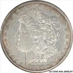 1880-CC Morgan Silver Dollar Choice Very Fine + Details