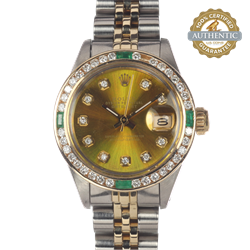 Rolex 26mm Date Just 6916 Two Tone Jubilee Bracelet With Box