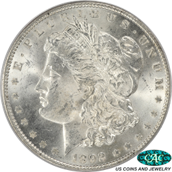 1892 Morgan Silver Dollar PCGS and CAC MS63 OGH - White, no issues