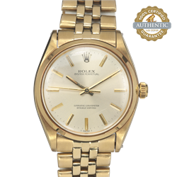 1963 ROLEX 34mm Oyster Perpetual 1002 Vintage  Gold Watch Watch Only