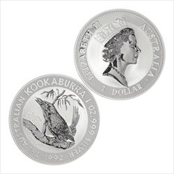 Random Date Australia Kookabura 1oz .9999 Fine Silver