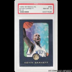 1995 SKYBOX #49 KEVIN GARNETT BLUE PSA NM-MT 8