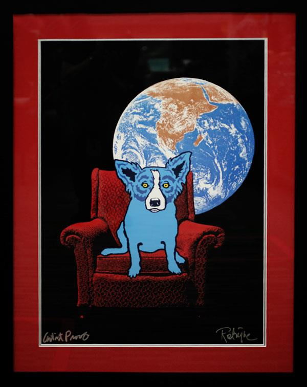 GEORGE RODRIGUE BLUE DOG - SPACE CHAIR
