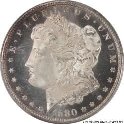 1880-S Morgan Silver Dollar PCGS MS67+PL With Stunning Die Polish and crisp Patina