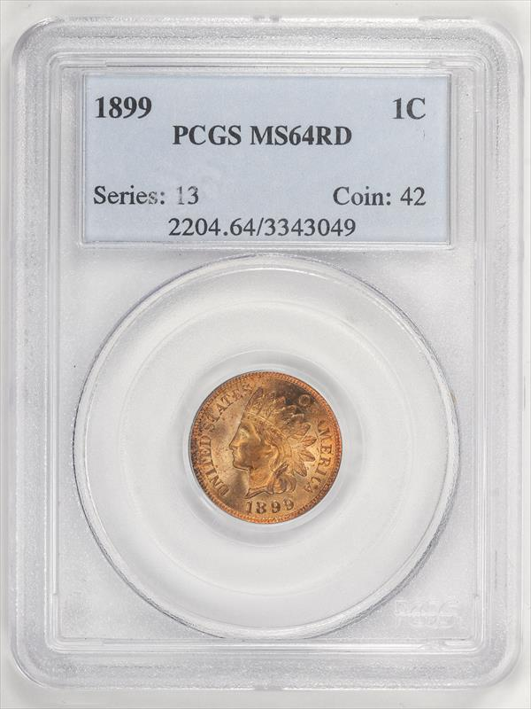 1899 Indian Head Cent  ~ Super Nice Coin ~ PCGS