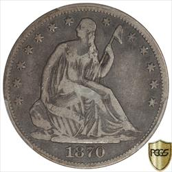 1870-CC Seated Liberty Half Dollar PCGS F12 Low Mintage Key Date