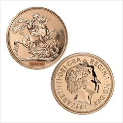 Great Britain One Pound Sovereign Gold .2354 oz Gold