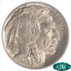 1913-D  T2 Buffalo Nickel PCGS and CAC MS63 Frosty Choice BU