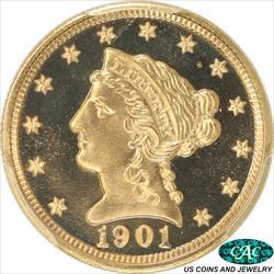 1901 Liberty $2 1/2 Gold Quarter Eagle PCGS PR67+CAM