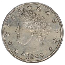 1898 Liberty V Nickel PCGS PR63 Mintage of: 1,795