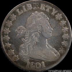 1801 Draped Bust Half Dollar PCGS Genuine