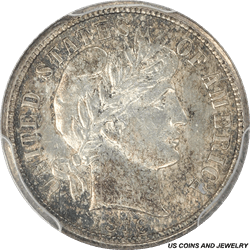 1916 Barber Dime PCGS MS65 Amazing Die Polish Lines through out