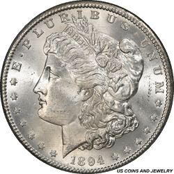 1894-S Morgan Silver Dollar PCGS MS64 Frosty White Super Choice