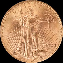 1923-D Saint St. Gaudens $20 Gold Double Eagle OGH PCGS MS 64