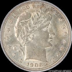 1906 Barber Half Dollar PCGS MS62
