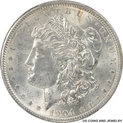 1904 Morgan Silver Dollar PCGS MS62 Frosty Select Uncirculated