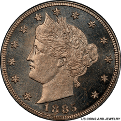 1885 Liberty V Nickel PCGS PR64 CAM