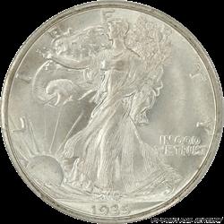 1935-S Walking Liberty Half Dollar PCGS MS66