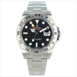Rolex 42mm Explorer II 216570 Black Dial SS Oyster Band No Box or Card