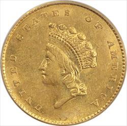 1854 Indian Princess Gold  $1 PCGS MS 50