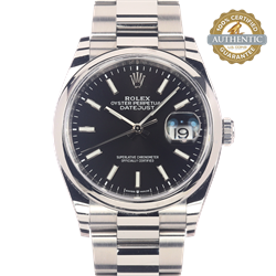 Rolex 36mm DateJust Ref/126200 Watch and Card