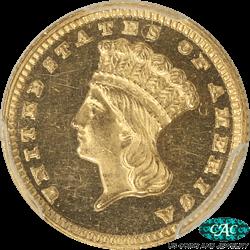 1882 Indian Princess Gold Dollar PCGS PR-63 Cameo (CAC)