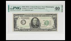 1934A $500 FRN FR#2202-C PMG XF 40 SN C00063102A