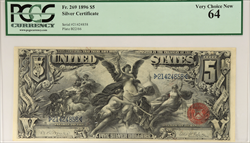 1896 $5 Educational Series Silver Certificate PCGS
